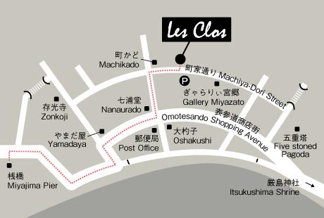 宮島 レ・クロ 地図